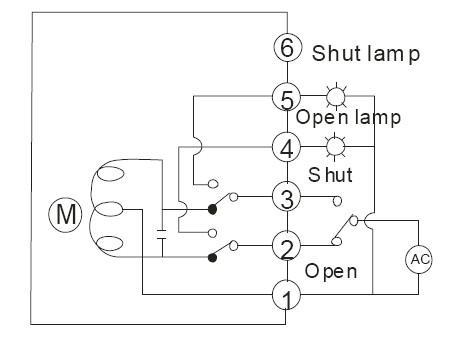 进口电动蝶阀接线图介绍